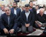 تصاویری از حضور سردار سلیمانی، احمدی نژاد و محمود کریمی در یک مراسم ترحیم
