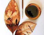 هنرنمایی زیبا با قهوه روی برگ +عکس