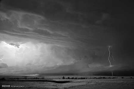 اخبار,اخبارگوناگون ,تصاویر سیاه و سفید زیبا از طوفان در طبیعت