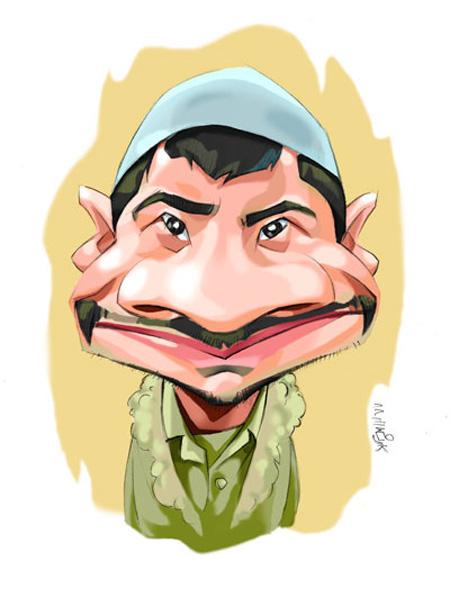 کاریکاتور چهره,کاریکاتور چهره های معروف,کاریکاتور چهره علی صادقی