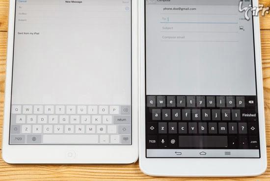 الجی G Pad 8.3 در مقایسه با اپل آیپد mini 2