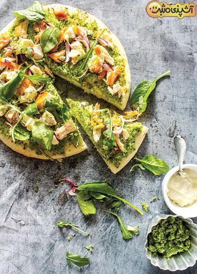 پیتزای سبز با ماهی