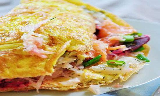 طرز تهیه املت ماهی سالمون دودی