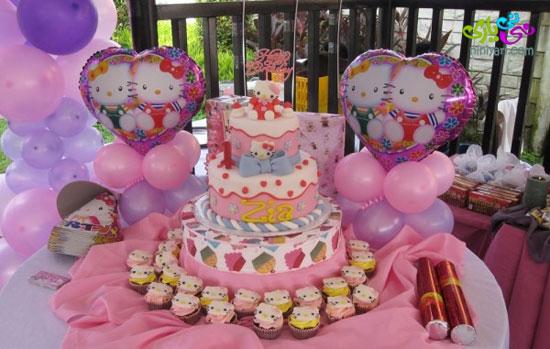 تم تولد هلو کیتی مخصوص دختر کوچولوها