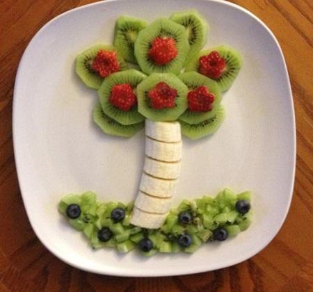 تزیین میوه پوست کنده برای کودک