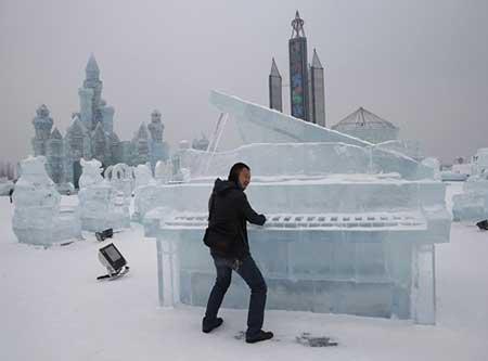 عکسهای جالب,آثار هنری با یخ ,تصاویر جالب