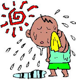 گرمازدگی,گرمازدگی در کودکان,علائم گرمازدگی,درمان گرمازدگی