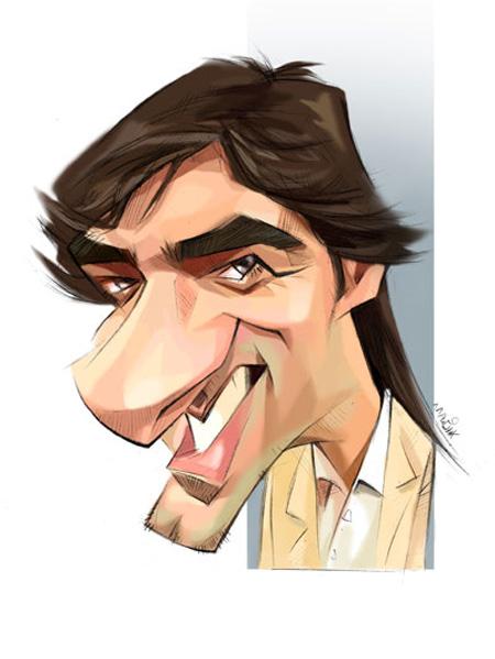 کاریکاتور چهره,کاریکاتور چهره های معروف,کاریکاتور های چهره شهاب حسینی