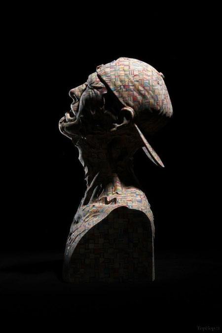 مجسمه هایی شگفت انگیز با اسکیت بورد +عکس