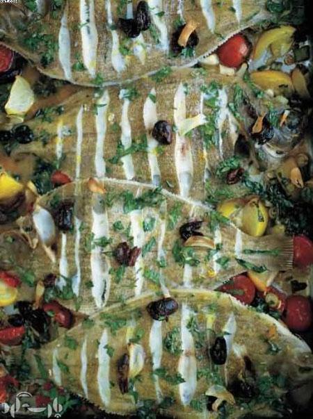ماهی حلوا و سبزیجات