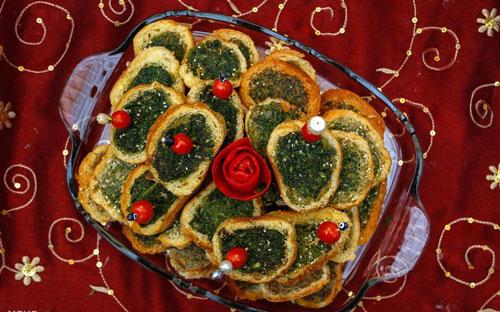 طرز تهیه کوکو سبزی با نان باگت