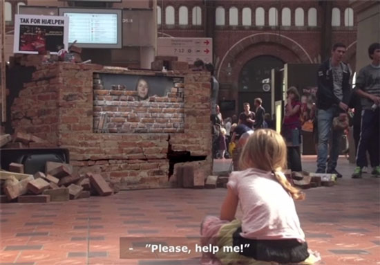 دیوار دیجیتالی برای کمک به کودکان محروم+تصاویر