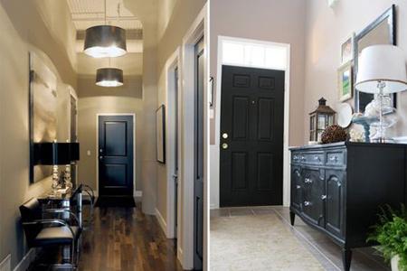 ویژگی کارکردن درب های سیاه در خانه,شیک ترین رنگ های درب داخلی