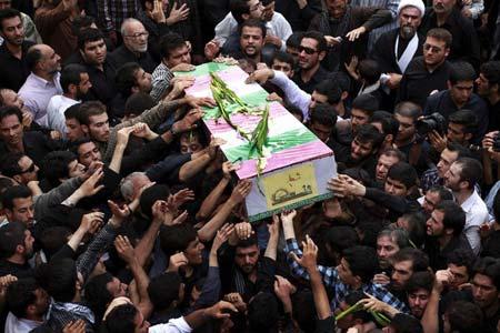 مراسم تشییع شهدا در تهران