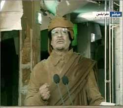 دیکتاتور لیبی: من قذافی پرشکوه و مجاهد بزرگ هستم