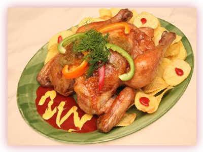 مرغ سوخاری در فر