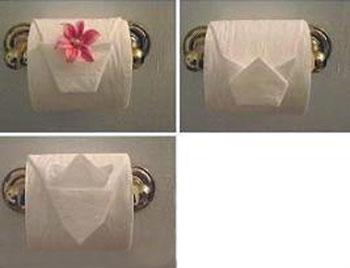تزیین دستمال برای عروس,تزیین دستمال توالت عروس