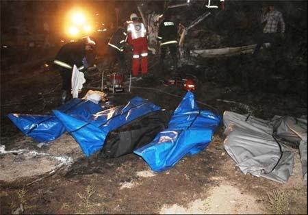 حادثه دلخراش دراتوبان تهران قم,تصادف,سانحه رانندگی