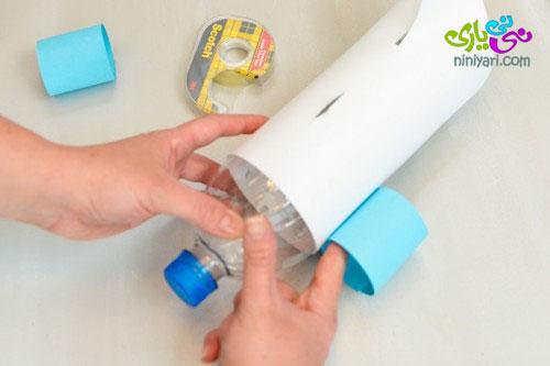 آموزش کاردستی ، با بطری نوشابه هواپیما بسازید
