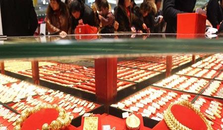 ویترین یک جواهرفروشی در پکن، چین