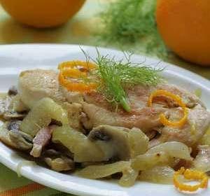 مرغ پرتقالی با ادویه فرانسوی , طرز تهیه مرغ پرتقالی