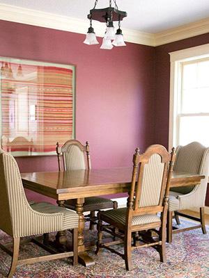تزیین منزل با رنگ بنفش