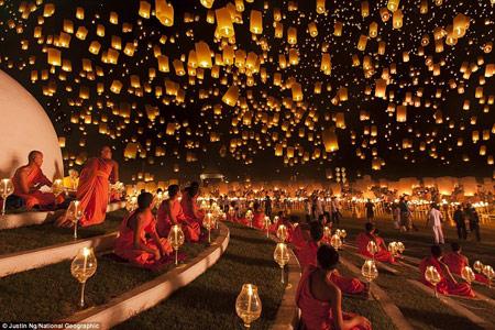 اخبار,اخبار فرهنگی,روشنایی شب در شهرهای مختلف,فستیوال یی پنگ در تایلند