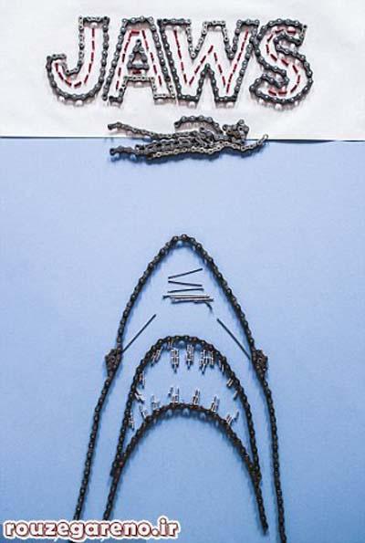 اخبار,اخبار گوناگون,خلق آثار هنری با قطعات دوچرخه,ساخت تابلوهای زیبا با قطعات دوچرخه