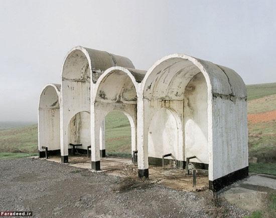 تصاویر/ عجیبترین ایستگاههای اتوبوس