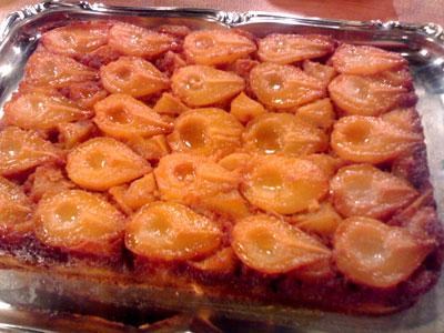 طرز تهیه کیک گلابی , پخت کیک گلابی