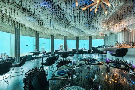 رستوران Subsix در مالدیو,رستوران زیرآبی,رستورانی در اقیانوس