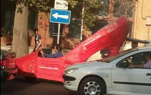 حضور ماشین پاشنه بلند در خیابان های تهران