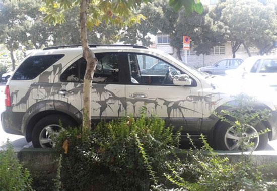 تصاویر: انتقام از خودروی لوکس در تهران!