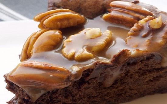 طرز تهیه چیز کیک شکلات و کارامل