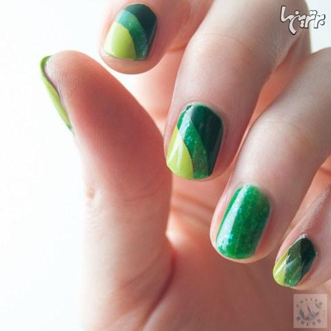 با این طرح های سبز ناخن، بهاری شوید