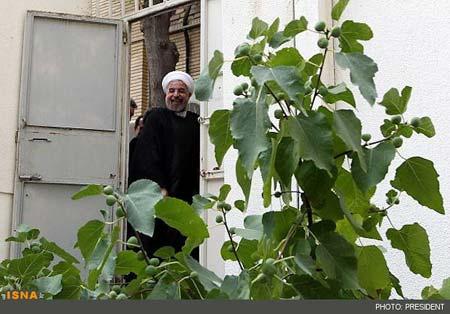 ورود حسن روحانی به ساختمان ریاست جمهوری,تصاویر ورود حسن روحانی به ساختمان ریاست جمهوری
