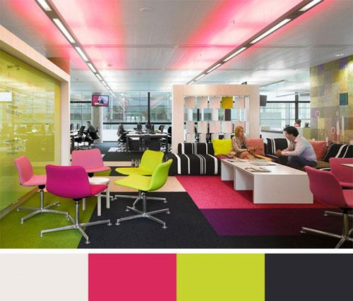 چگونه رنگ دفتر کار شما روی بهرهوری تاثیر میگذارد