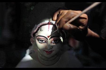 بت الهه هندو دورگا