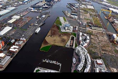 یک قطعه از هنر زمین تحت عنوان 'ای کاش،' در بلفاست، ایرلند شمالی