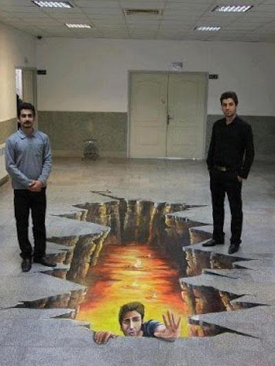 نقاشی سهبعدی دیدنی از دانشجو های ایرانی