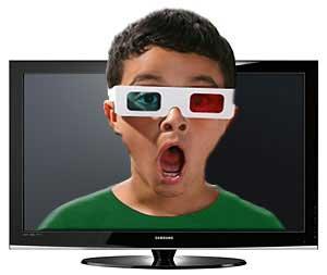 عينك ويژه براي تماشاي سهبعدي تصاوير تلويزيون