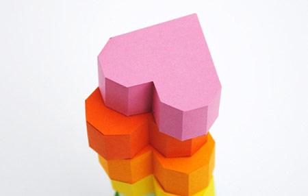 نحوه ساخت جعبه کادوئی, ساخت جعبه کادوئی قلبی
