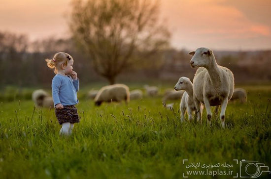 تصاویر شگفت انگیز کودکان و حیوانات