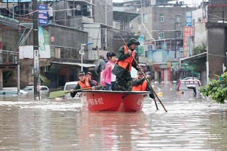 آب گرفتگی در استان فوجیان، چین