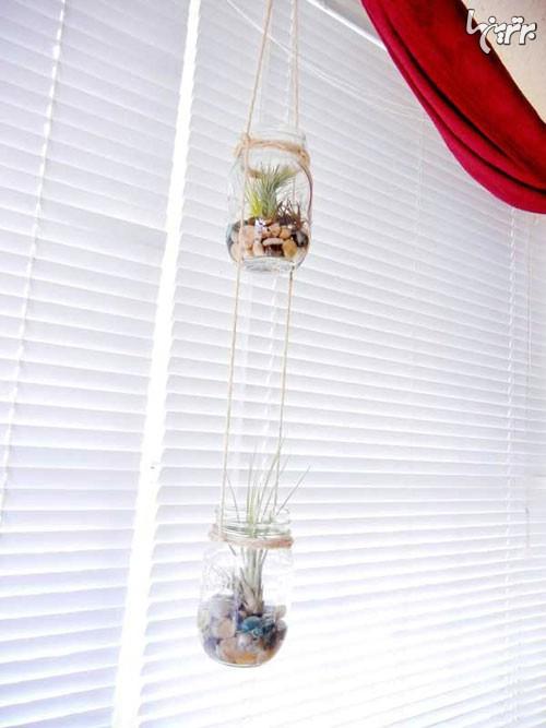 با بطری های شیشه ای خانه تان را زیبا کنید