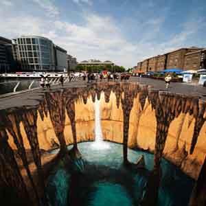 نقاشیهای سهبعدی خیابانی خیرهکننده و هنرمندانه