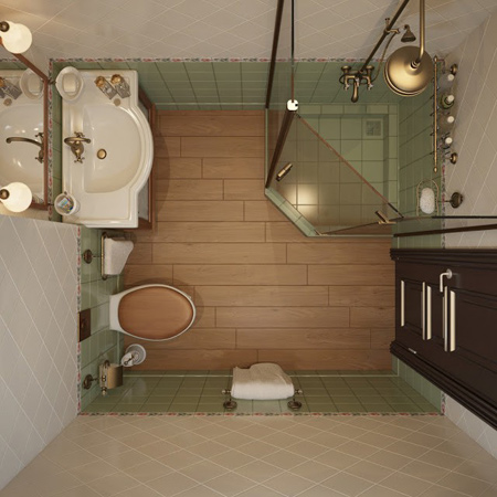 طراحی مدرن حمام های کوچک, دکوراسیون سرویس بهداشتی های کوچک