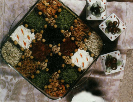 تزیین حلیم بادمجان ماه رمضان, نحوه تزیین حلیم بادمجان