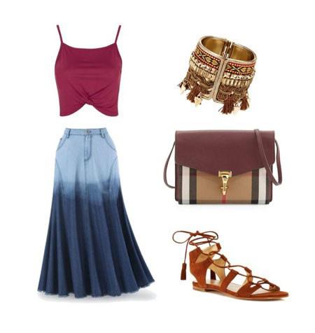 مدل دامن زنانه,ست لباس با دامن بلند