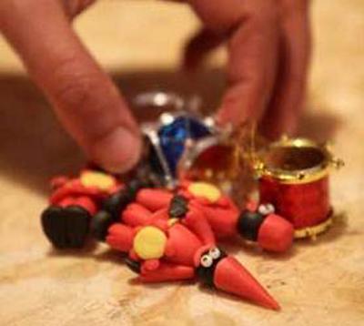 تزیین شمع حاجی فیروز عید, تزیین شمع های هفت سین